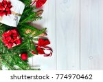 christmas fir tree with...   Shutterstock . vector #774970462