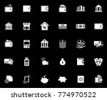 banking icons set | Shutterstock .eps vector #774970522