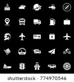 transport icons set | Shutterstock .eps vector #774970546