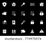 security icons set | Shutterstock .eps vector #774970576