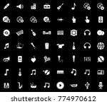 music icons set   Shutterstock .eps vector #774970612
