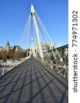 empty golden jubilee pedestrian ... | Shutterstock . vector #774971302