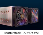 cryptocurrency mining farm.... | Shutterstock . vector #774975592