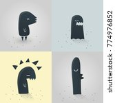 cute monster character set | Shutterstock .eps vector #774976852