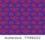 butterfly pattern for active...   Shutterstock .eps vector #774982222