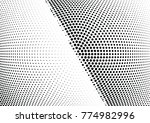 abstract halftone wave dotted...   Shutterstock .eps vector #774982996
