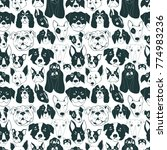 seamless vector pattern with...   Shutterstock .eps vector #774983236