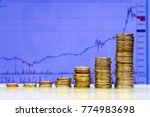 financial concept  coins and... | Shutterstock . vector #774983698