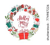 hand drawn winter holiday... | Shutterstock .eps vector #774987226