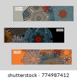 ethnic banners template with...   Shutterstock .eps vector #774987412