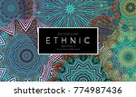 ethnic banners template with...   Shutterstock .eps vector #774987436