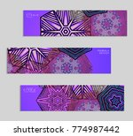 ethnic banners template with...   Shutterstock .eps vector #774987442