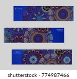 ethnic banners template with...   Shutterstock .eps vector #774987466