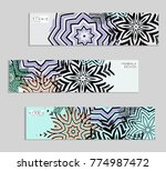 ethnic banners template with...   Shutterstock .eps vector #774987472