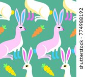 white hares or pink rabbits...   Shutterstock .eps vector #774988192