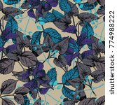 leaf pattern in vector   Shutterstock .eps vector #774988222