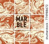 marble texture set. brown ...   Shutterstock .eps vector #774988672