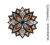mandala flower decoration ...   Shutterstock .eps vector #774990472