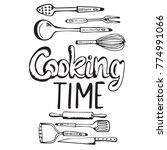 cooking poster with vintage... | Shutterstock .eps vector #774991066