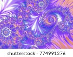 colorful fractal background | Shutterstock . vector #774991276