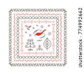 national northen paintings...   Shutterstock .eps vector #774992662