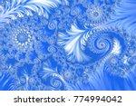 blue embossed fractal pattern ... | Shutterstock . vector #774994042