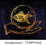 traditional tattoo flash hand... | Shutterstock .eps vector #774997432