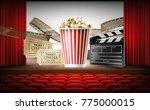 cinema concept 3d vector...   Shutterstock .eps vector #775000015