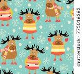 seamless pattern of... | Shutterstock .eps vector #775016362