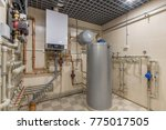 hot water thermal storage tank. ... | Shutterstock . vector #775017505
