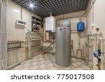 Hot Water Boiler. Boiler Room...