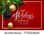holidays greeting card for... | Shutterstock .eps vector #775024606