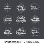 merry christmas typographic... | Shutterstock .eps vector #775026202