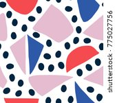 seamless pattern with hand... | Shutterstock .eps vector #775027756