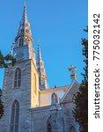 Small photo of Notre Dame Cathedral Basilica in Ottawa. Ottawa, Ontario, Canada.