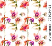 seamless pattern with... | Shutterstock . vector #775034416