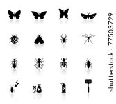icons set insects | Shutterstock .eps vector #77503729