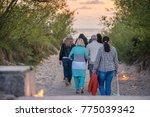 romantic bonfire night at... | Shutterstock . vector #775039342