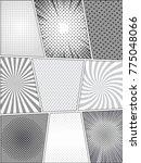 comic monochrome templates set... | Shutterstock .eps vector #775048066