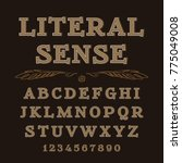 latin alphabet letters... | Shutterstock . vector #775049008