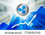 ripple cryptocurrency in the... | Shutterstock .eps vector #775050742
