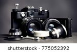 vintage photography set with... | Shutterstock . vector #775052392