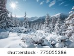scenic image of fairy tale... | Shutterstock . vector #775055386