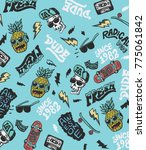hand drawn pattern and... | Shutterstock .eps vector #775061842