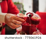 cupcake for christmas party   Shutterstock . vector #775061926
