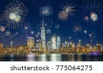 new york city skyline with... | Shutterstock . vector #775064275