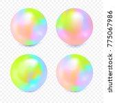 very bright multi colored balls ...   Shutterstock .eps vector #775067986