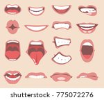 facial expressions for female... | Shutterstock .eps vector #775072276