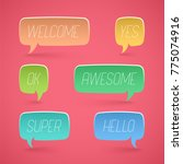 speech bubbles shapes for... | Shutterstock .eps vector #775074916