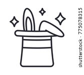 magic hat icon. trick icon... | Shutterstock .eps vector #775078315